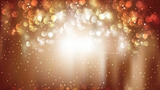 Brown and White Bokeh Lights Background Vector Graphic