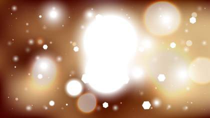 Abstract Brown and White Bokeh Lights Background