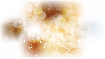 Abstract Brown and White Blurred Bokeh Background Vector Art