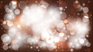 Abstract Brown and White Bokeh Background Design