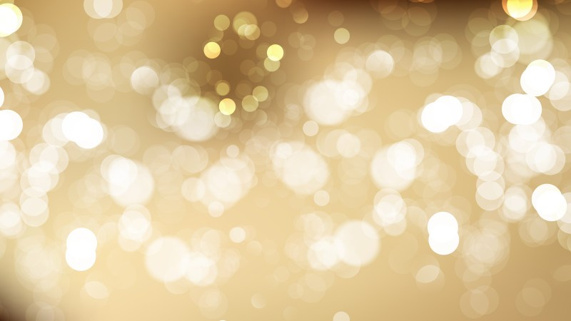 Abstract Brown and White Bokeh Lights Background Vector