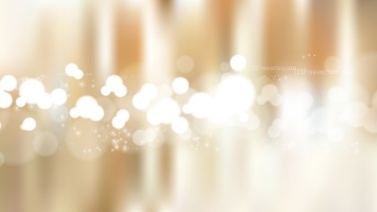 Brown and White Bokeh Defocused Lights Background Illustration