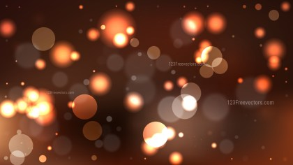 Abstract Coffee Brown Blurred Lights Background Illustrator