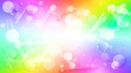 Abstract Colorful Blurred Lights Background Graphic