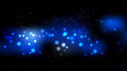 Cool Blue Bokeh Defocused Lights Background Vector Art