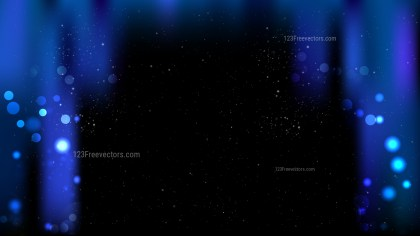 Abstract Cool Blue Bokeh Lights Background