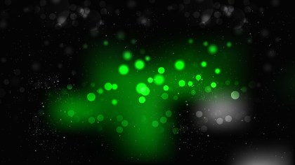 Cool Green Bokeh Defocused Lights Background