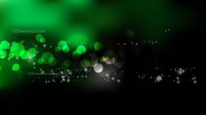 Cool Green Bokeh Lights Background
