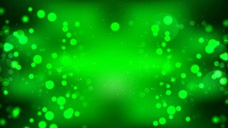 Abstract Cool Green Blurry Lights Background