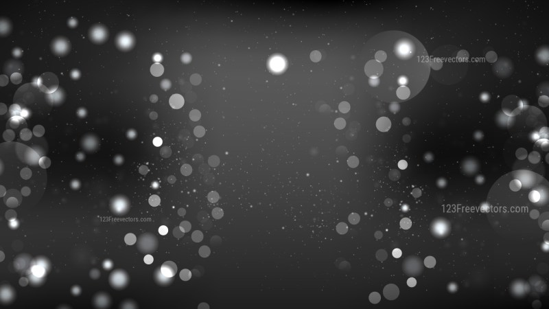 Cool Grey Blurred Lights Background