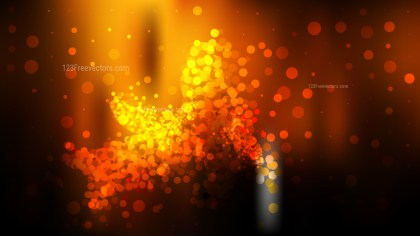 Abstract Cool Orange Blurry Lights Background