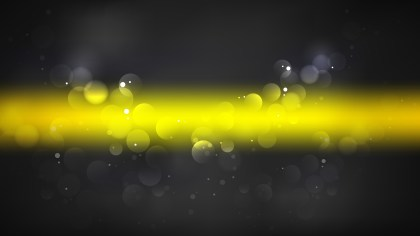 Cool Yellow Blurred Bokeh Background Vector Art