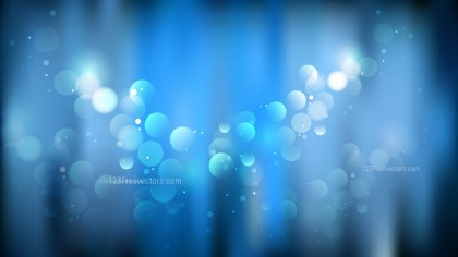 Dark Blue Bokeh Background