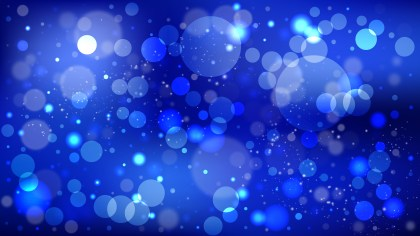 Abstract Dark Blue Blurred Bokeh Background Vector Image