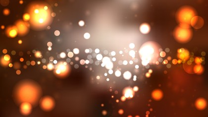 Abstract Dark Brown Bokeh Lights Background