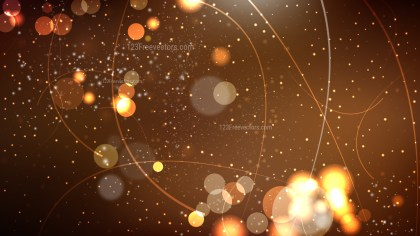 Abstract Dark Brown Bokeh Lights Background Vector Graphic