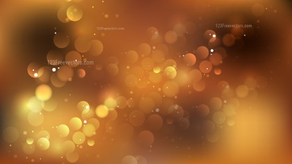 Abstract Dark Brown Blurred Lights Background