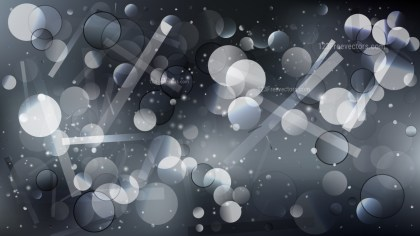 Dark Grey Bokeh Background Vector Graphic