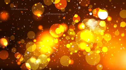 Abstract Dark Orange Bokeh Defocused Lights Background