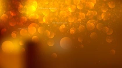 Dark Orange Blurry Lights Background Vector Illustration