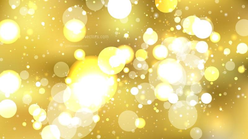 Gold Bokeh Defocused Lights Background Illustration