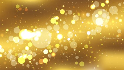 Abstract Gold Blurry Lights Background