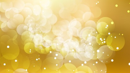 Gold Defocused Lights Background Vector Graphic