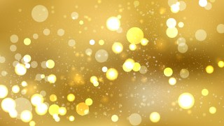 Abstract Gold Bokeh Lights Background