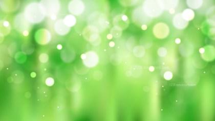 Abstract Green Defocused Lights Background Vector