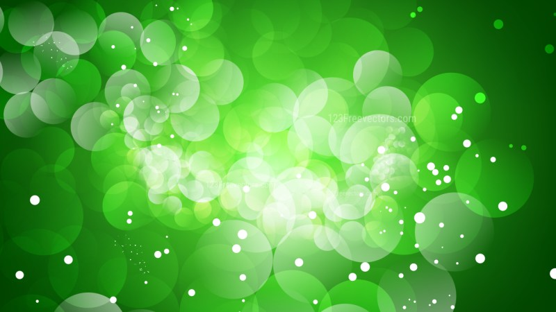 Green Blurry Lights Background Image