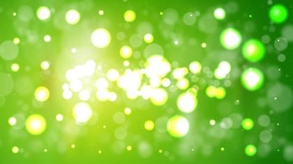 Green Bokeh Lights Background Illustrator