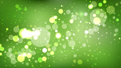 Abstract Green Bokeh Defocused Lights Background