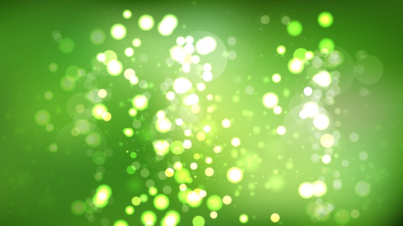 Abstract Green Blur Lights Background Graphic