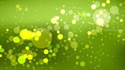 Green Blurry Lights Background Vector Illustration