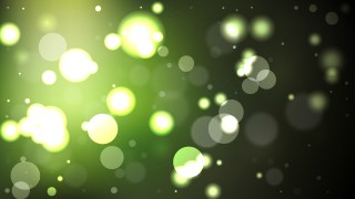 Abstract Green and Black Bokeh Defocused Lights Background