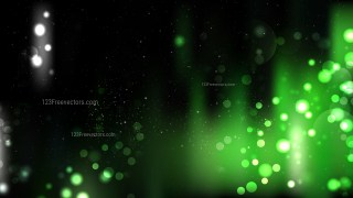 Abstract Green and Black Blur Lights Background Graphic