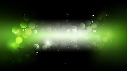 Abstract Green and Black Bokeh Defocused Lights Background Vector Image