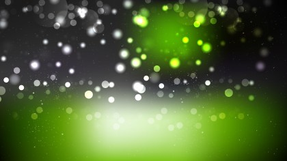 Abstract Green and Black Blurred Lights Background
