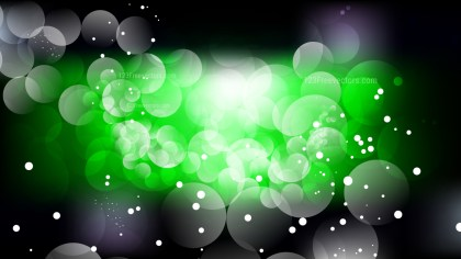 Abstract Green and Black Bokeh Background