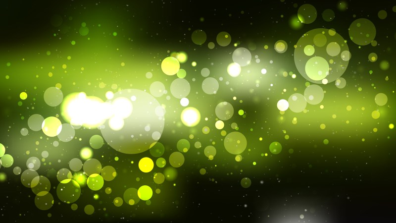 Abstract Green and Black Blurry Lights Background Illustration