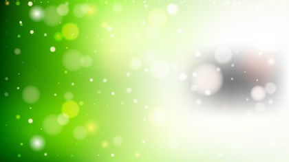Green and White Bokeh Defocused Lights Background Vector Image