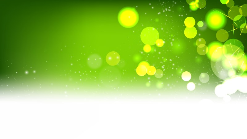 Green and White Defocused Background Vector Illustration