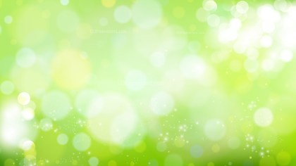 Abstract Green and White Blurry Lights Background