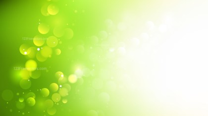 Abstract Green and White Blurred Bokeh Background Illustration