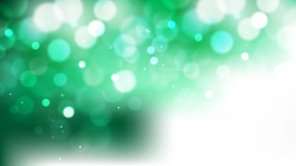 Abstract Green and White Blurred Lights Background Design