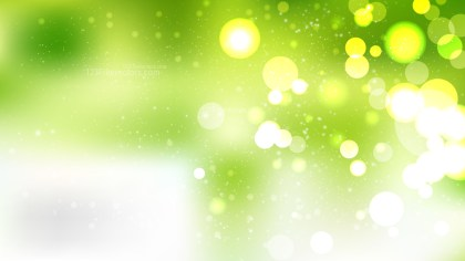 Green and White Blur Lights Background