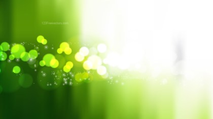 Green and White Blur Lights Background Graphic