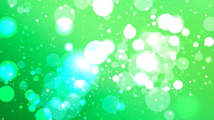 Green and White Blurred Lights Background Design