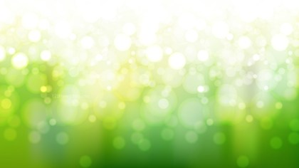 Green and White Defocused Lights Background Vector