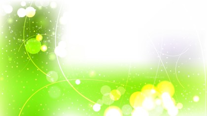 Abstract Green and White Bokeh Background